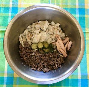 ciotola con dieta casalinga per cani